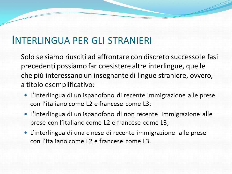 Interlingua per gli stranieri