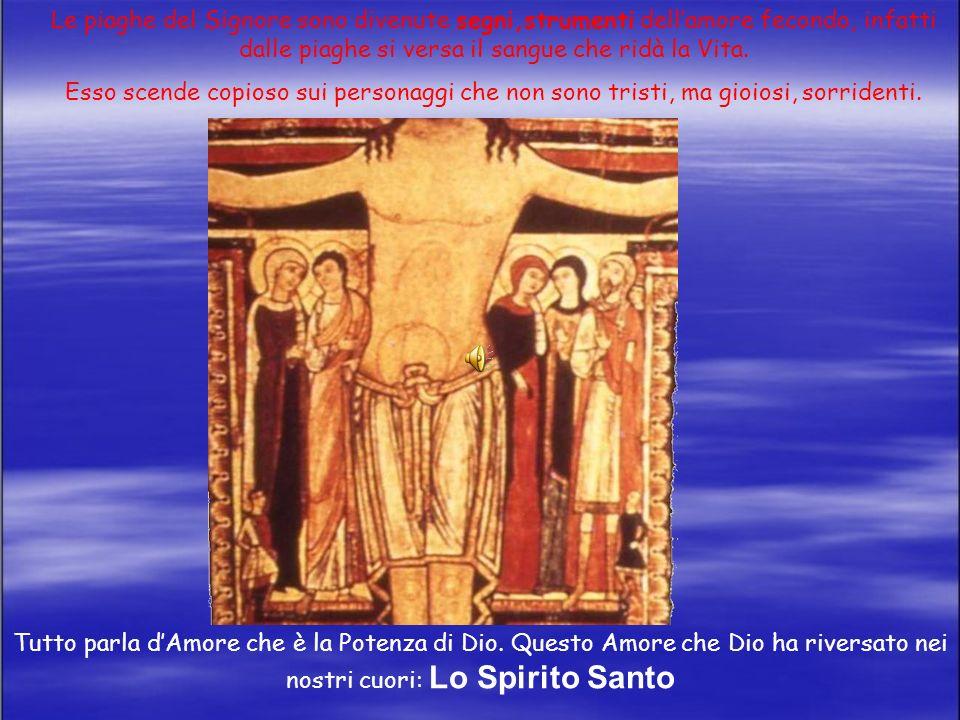 Le piaghe del Signore sono divenute segni,strumenti dell'amore fecondo, infatti dalle piaghe si versa il sangue che ridà la Vita.
