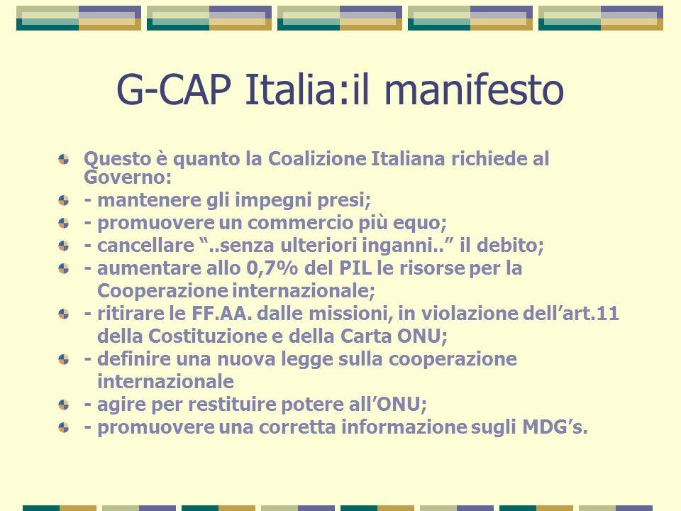 G-CAP Italia:il manifesto