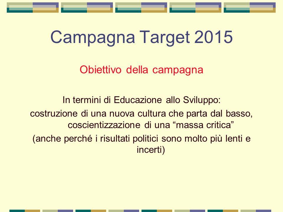 Campagna Target 2015 Obiettivo della campagna