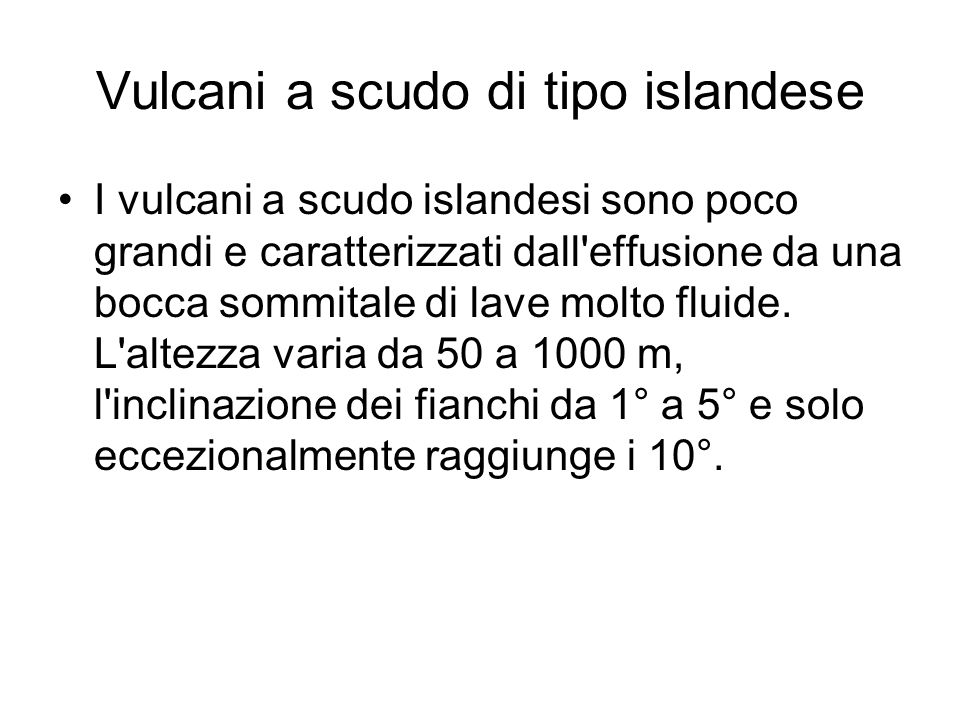 Vulcani a scudo di tipo islandese
