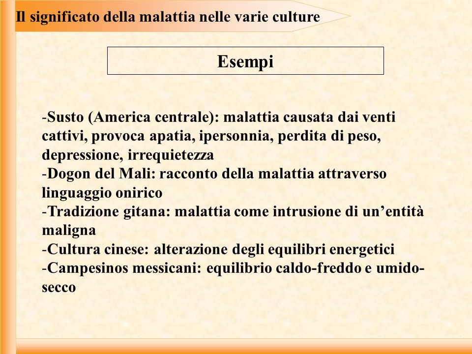 Il significato della malattia nelle varie culture