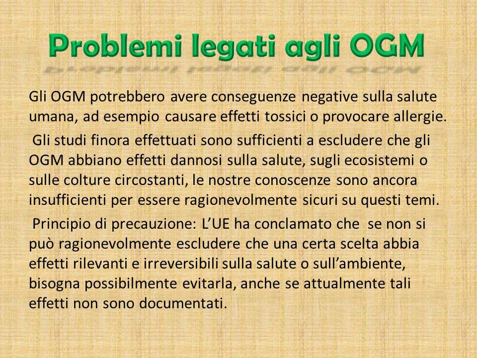 Problemi legati agli OGM