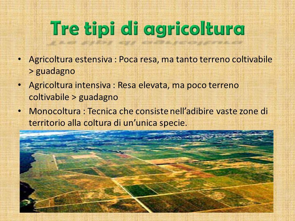 Tre tipi di agricoltura