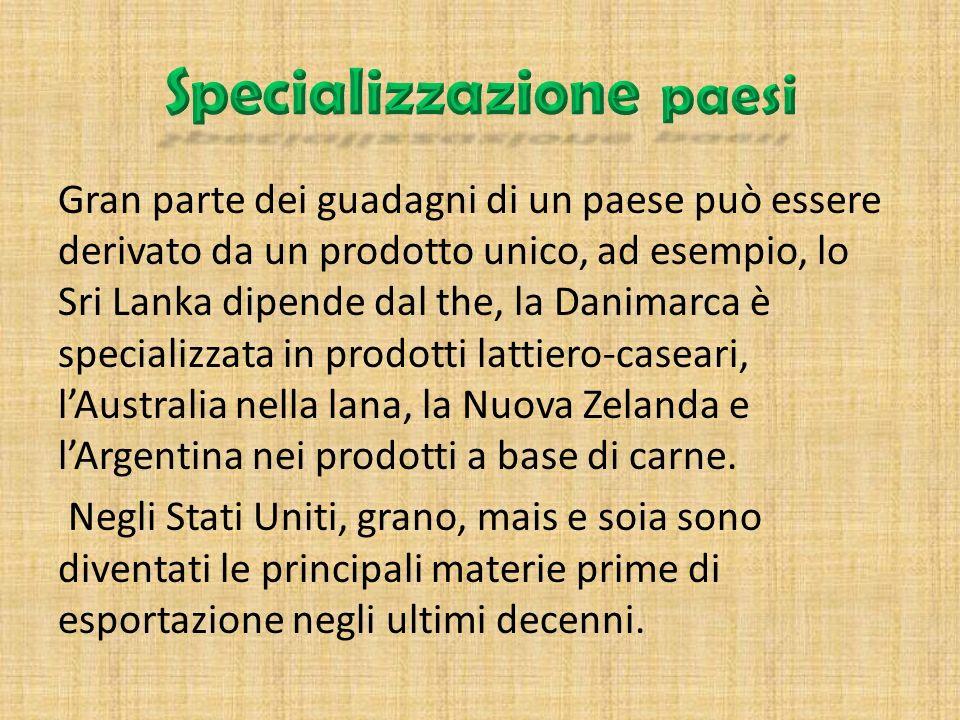 Specializzazione paesi