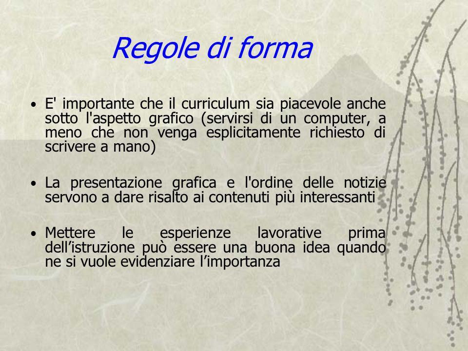 Regole di forma