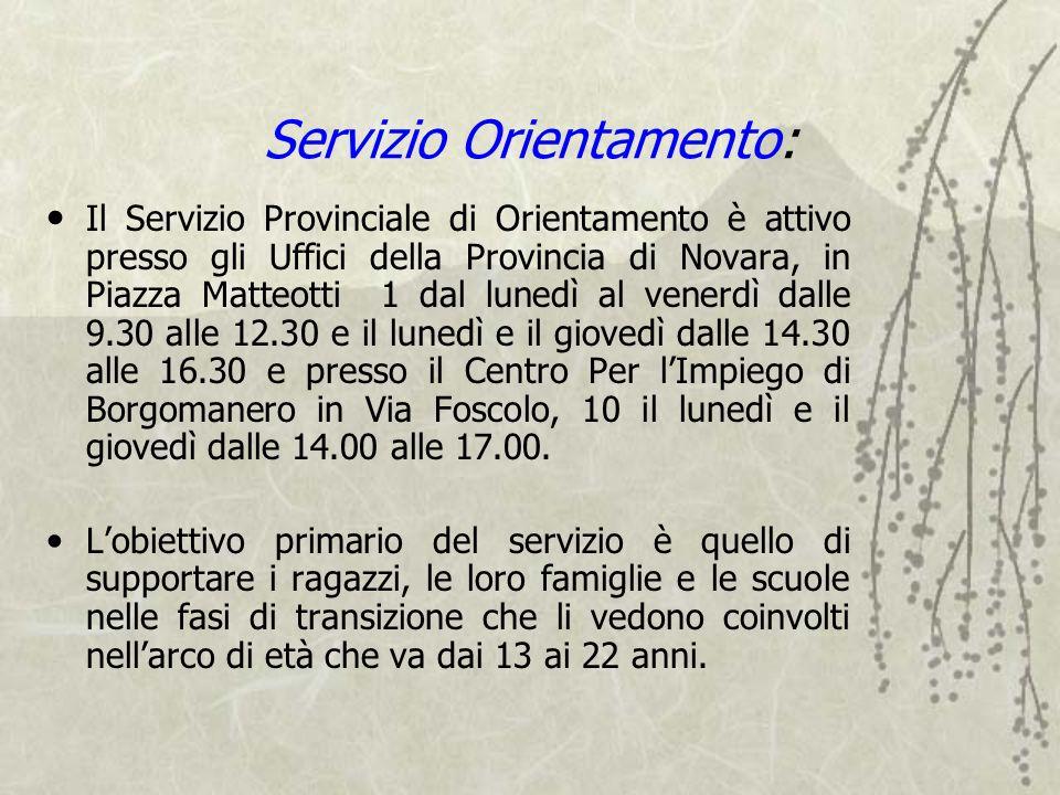 Servizio Orientamento: