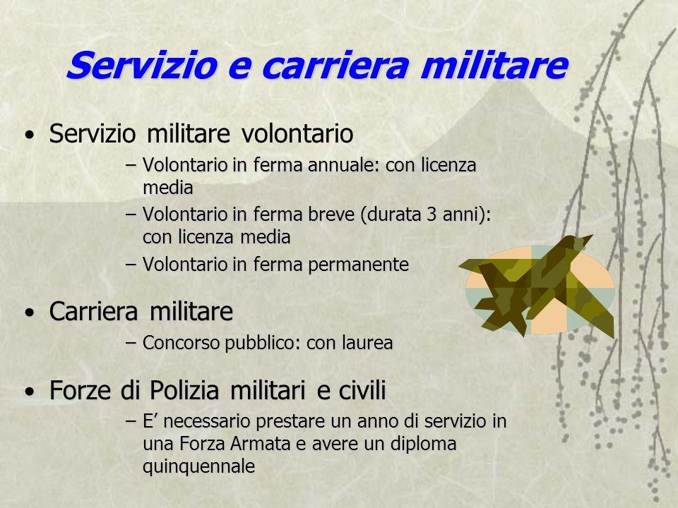 Servizio e carriera militare