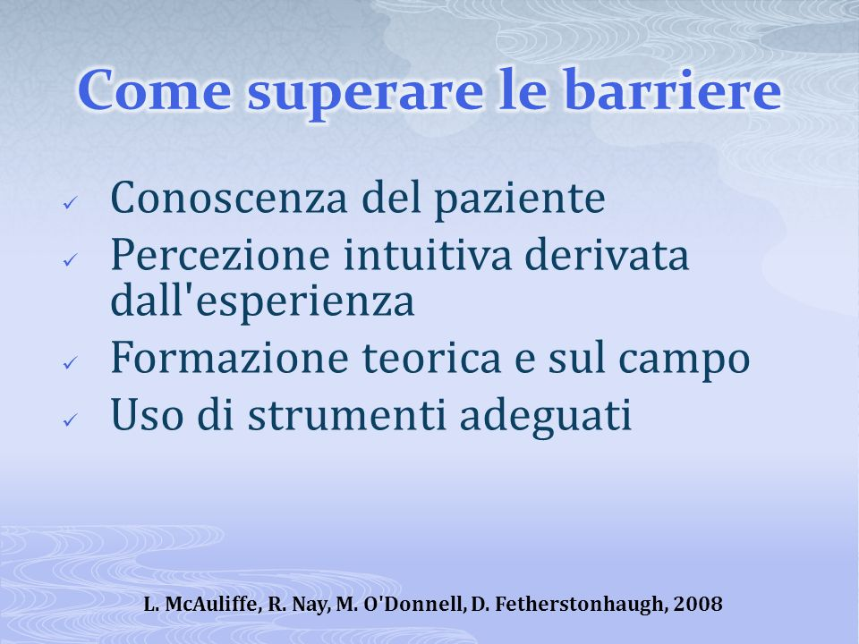 Come superare le barriere
