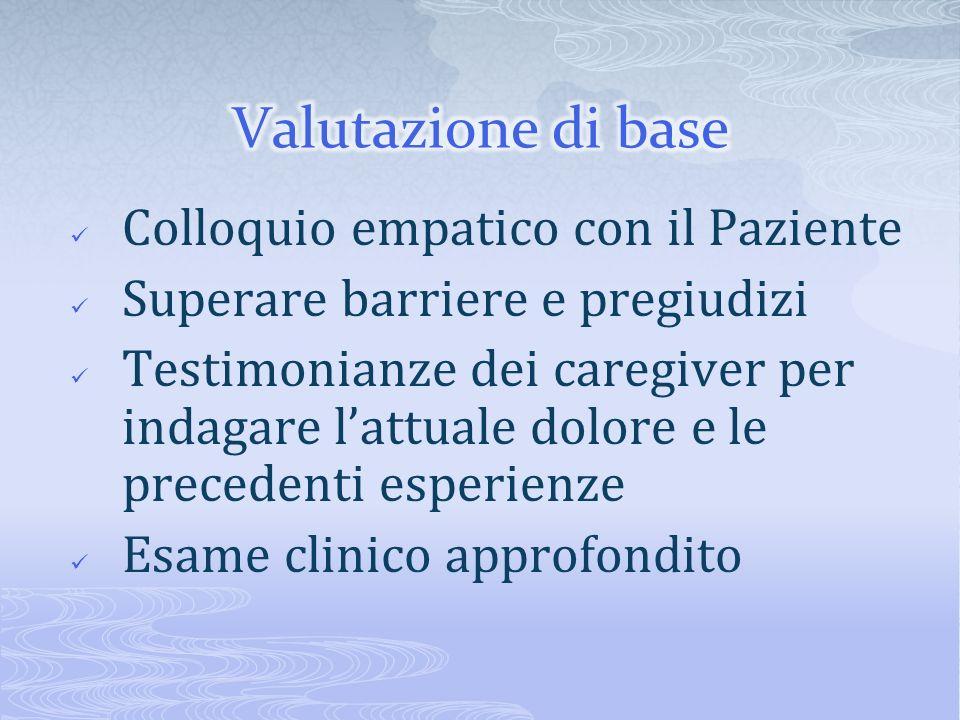 Valutazione di base Colloquio empatico con il Paziente