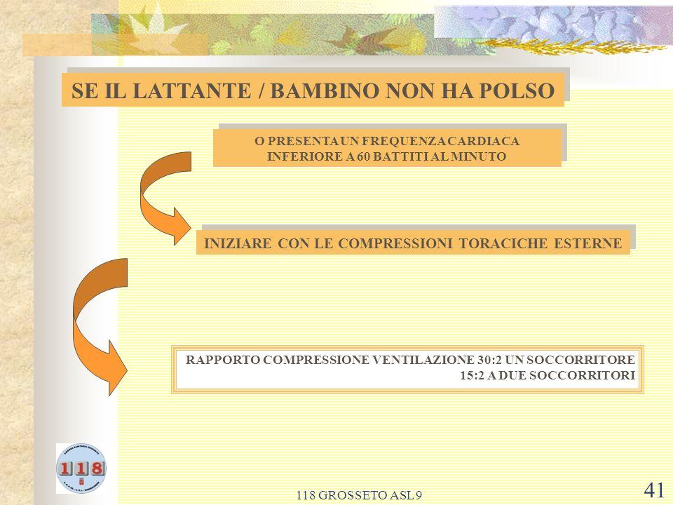 SE IL LATTANTE / BAMBINO NON HA POLSO