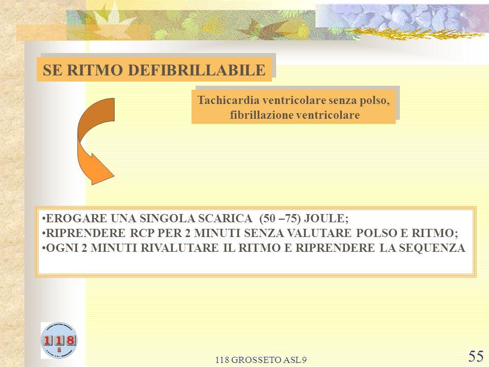 SE RITMO DEFIBRILLABILE