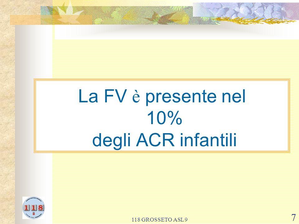 La FV è presente nel 10% degli ACR infantili
