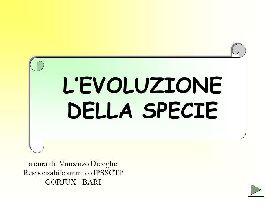 L'EVOLUZIONE DELLA SPECIE