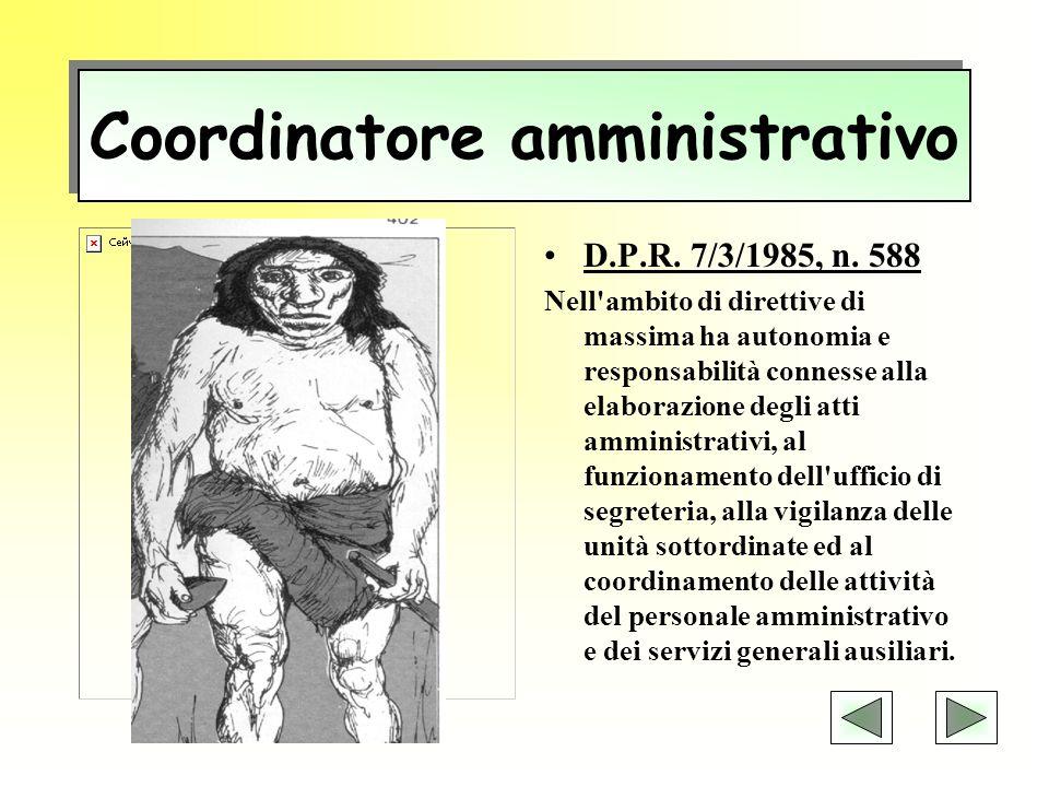 Coordinatore amministrativo