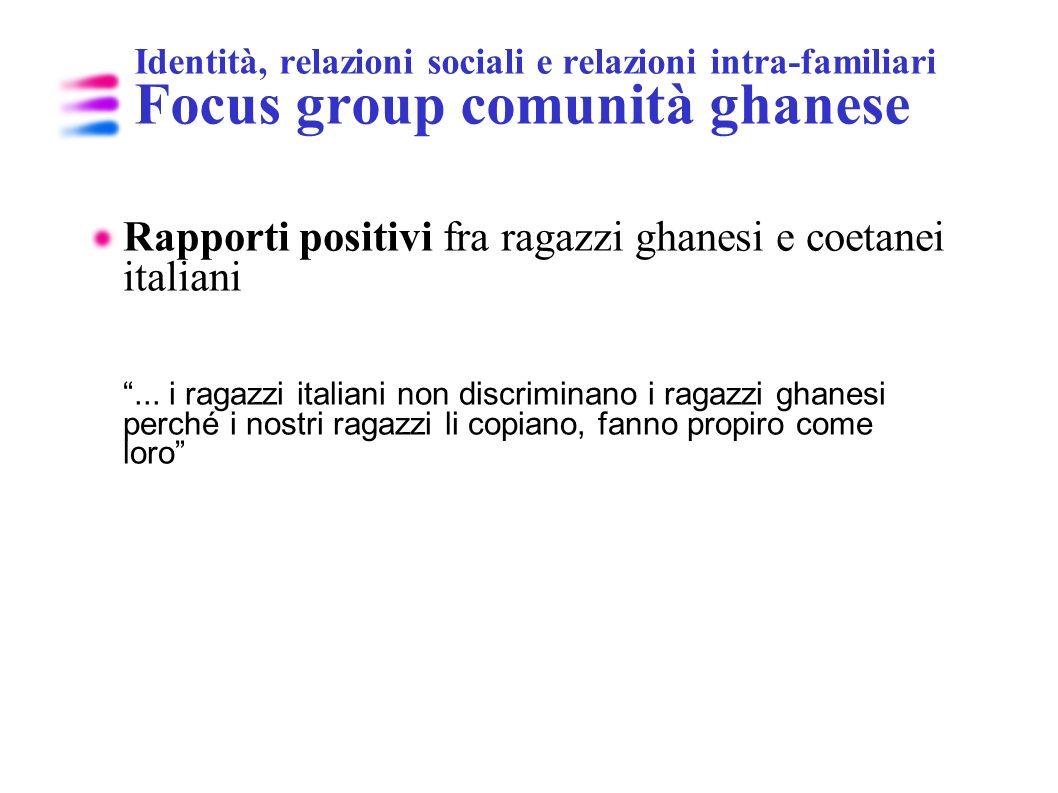 Rapporti positivi fra ragazzi ghanesi e coetanei italiani