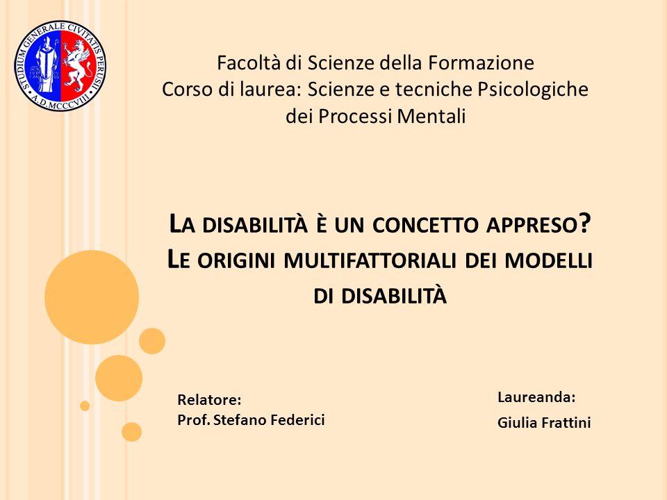 Laureanda: Giulia Frattini