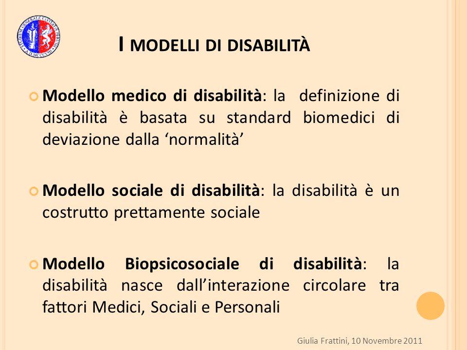 I modelli di disabilità