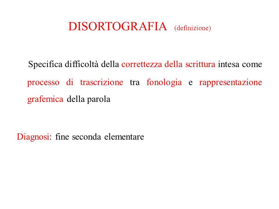 DISORTOGRAFIA (definizione)