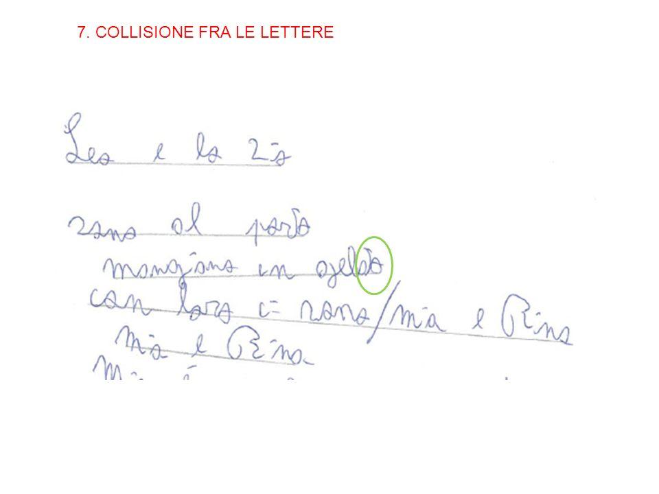 7. COLLISIONE FRA LE LETTERE