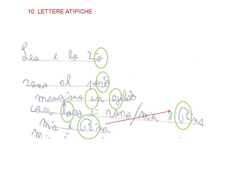 10. LETTERE ATIPICHE