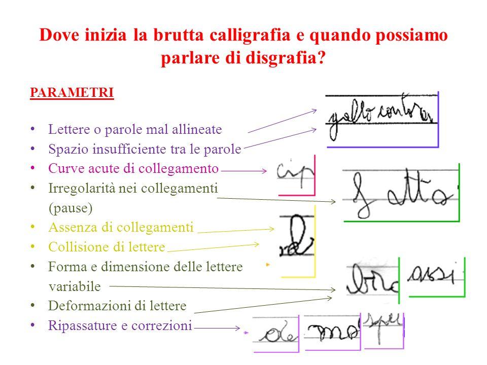 Dove inizia la brutta calligrafia e quando possiamo parlare di disgrafia