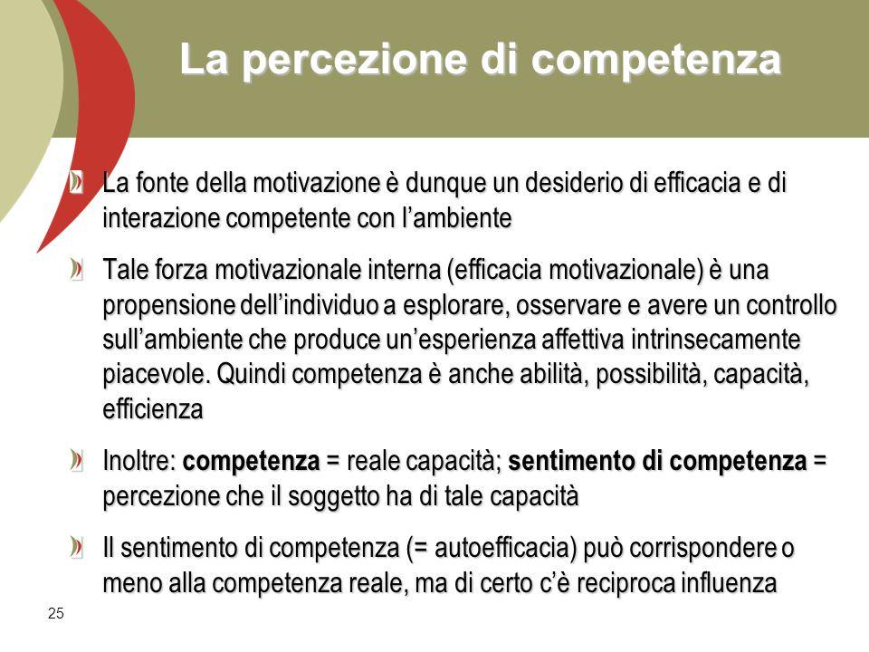 La percezione di competenza