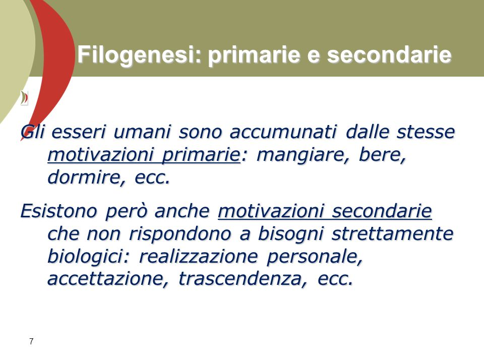 Filogenesi: primarie e secondarie