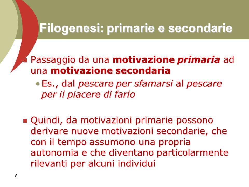 Filogenesi: primarie e secondarie