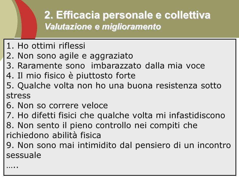 2. Efficacia personale e collettiva Valutazione e miglioramento