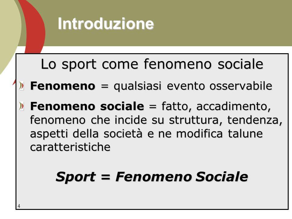 Sport = Fenomeno Sociale