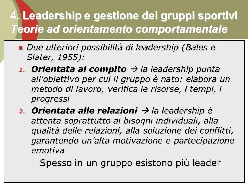 Spesso in un gruppo esistono più leader