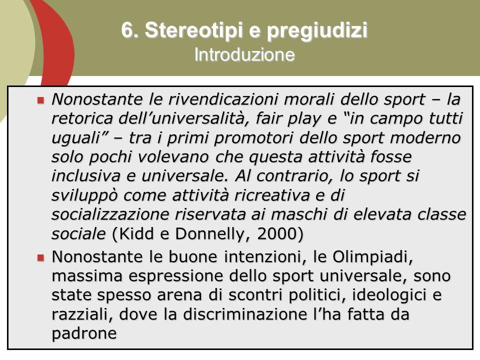 6. Stereotipi e pregiudizi Introduzione