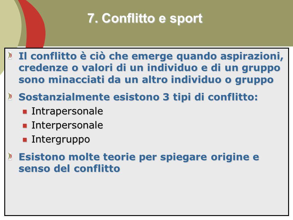 7. Conflitto e sport