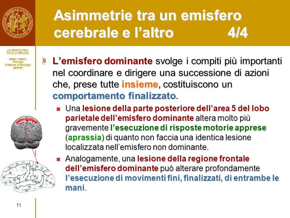 Asimmetrie tra un emisfero cerebrale e l'altro 4/4