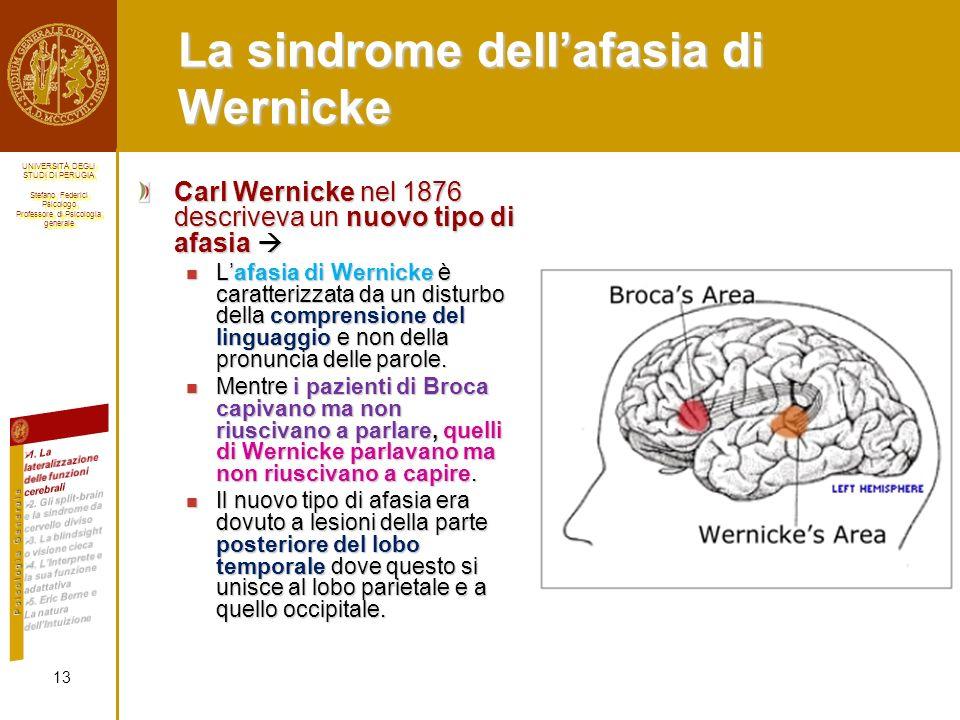 La sindrome dell'afasia di Wernicke
