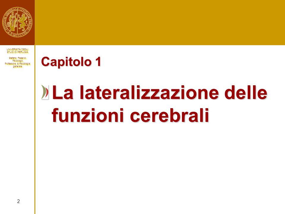 La lateralizzazione delle funzioni cerebrali