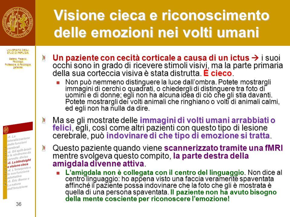 Visione cieca e riconoscimento delle emozioni nei volti umani