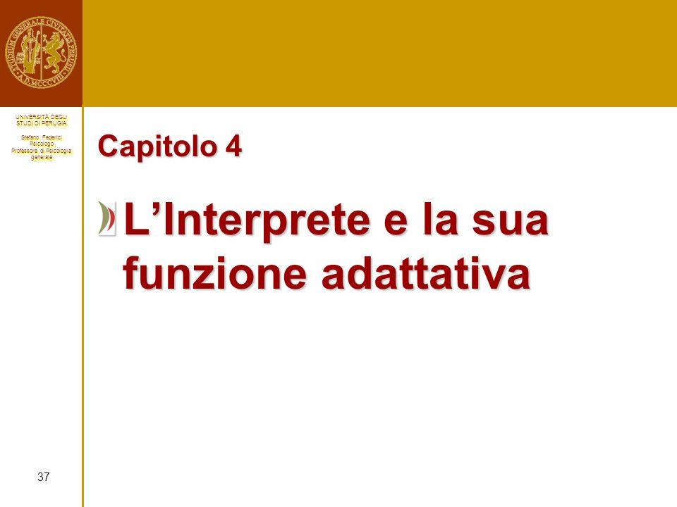 L'Interprete e la sua funzione adattativa