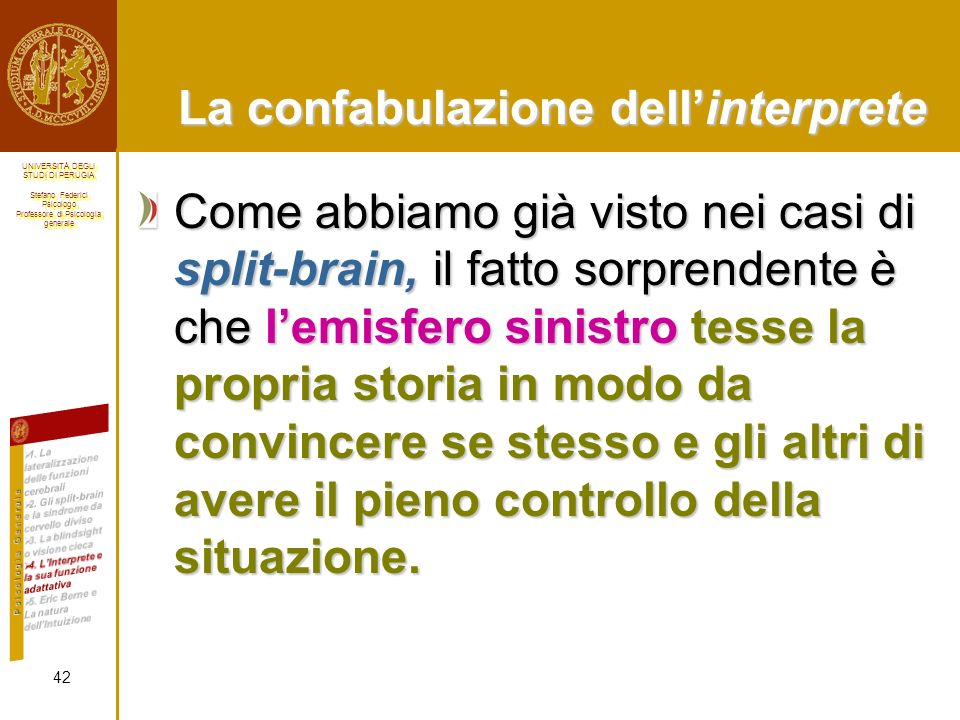 La confabulazione dell'interprete