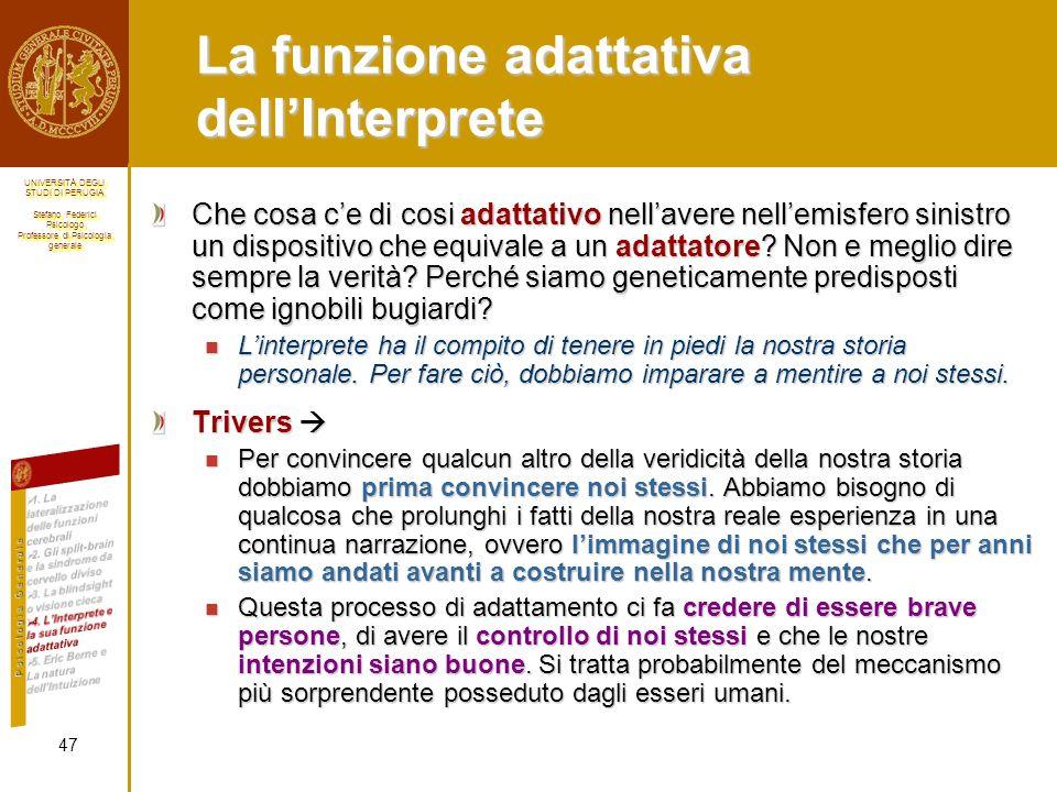 La funzione adattativa dell'Interprete