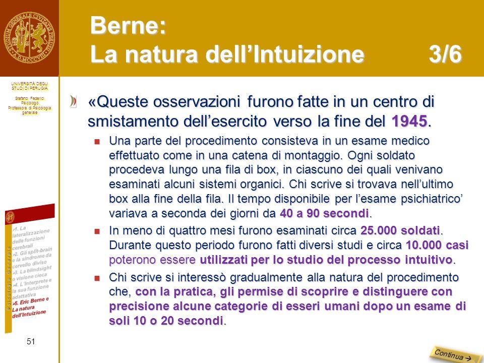 Berne: La natura dell'Intuizione 3/6