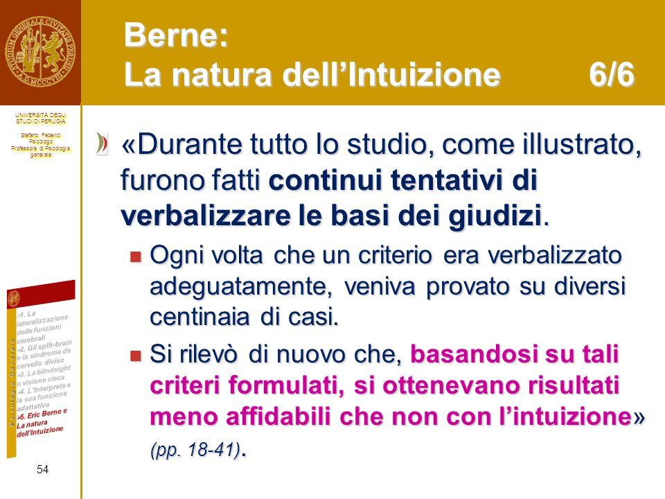 Berne: La natura dell'Intuizione 6/6