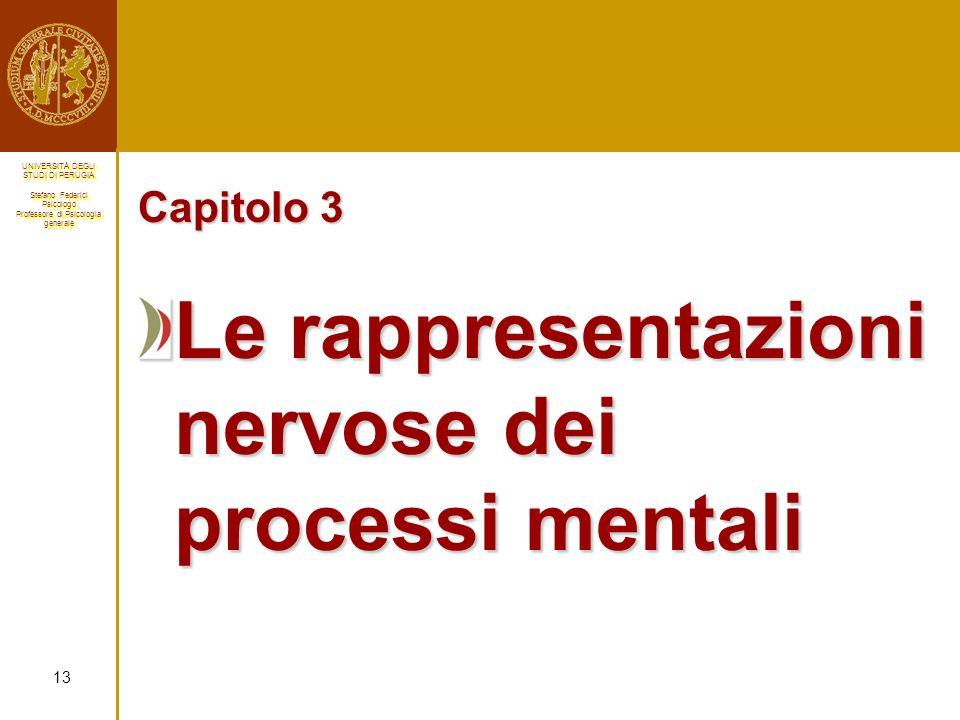 Le rappresentazioni nervose dei processi mentali