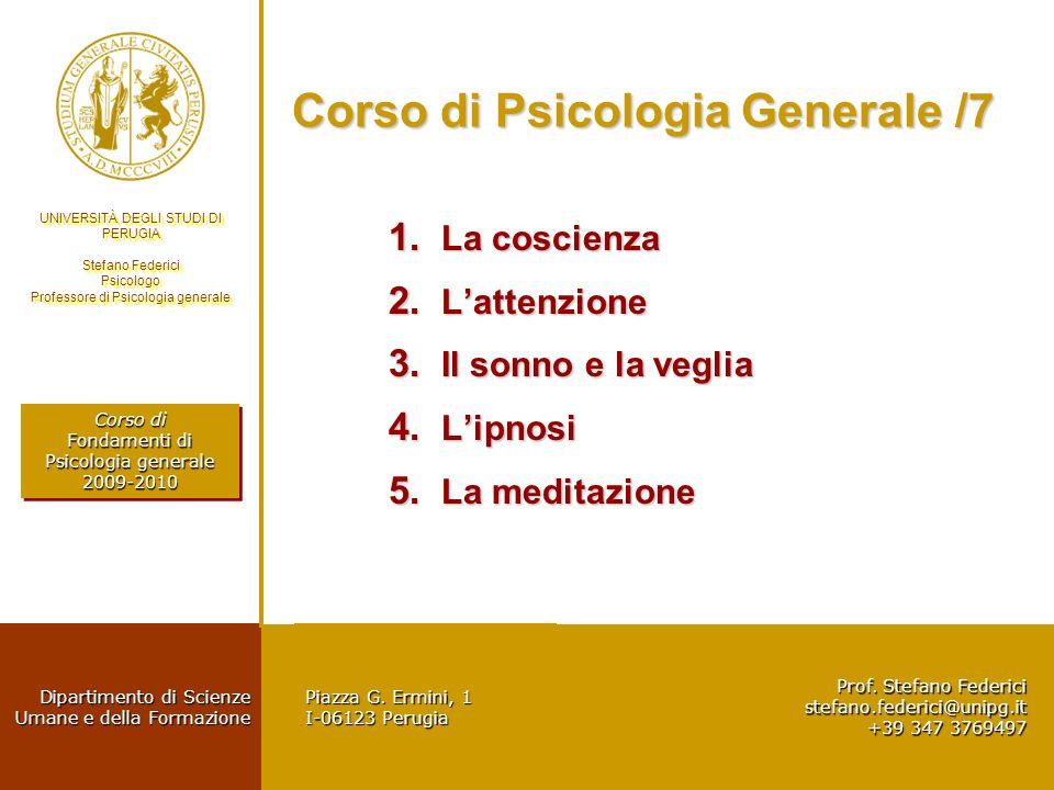 Corso di Psicologia Generale /7