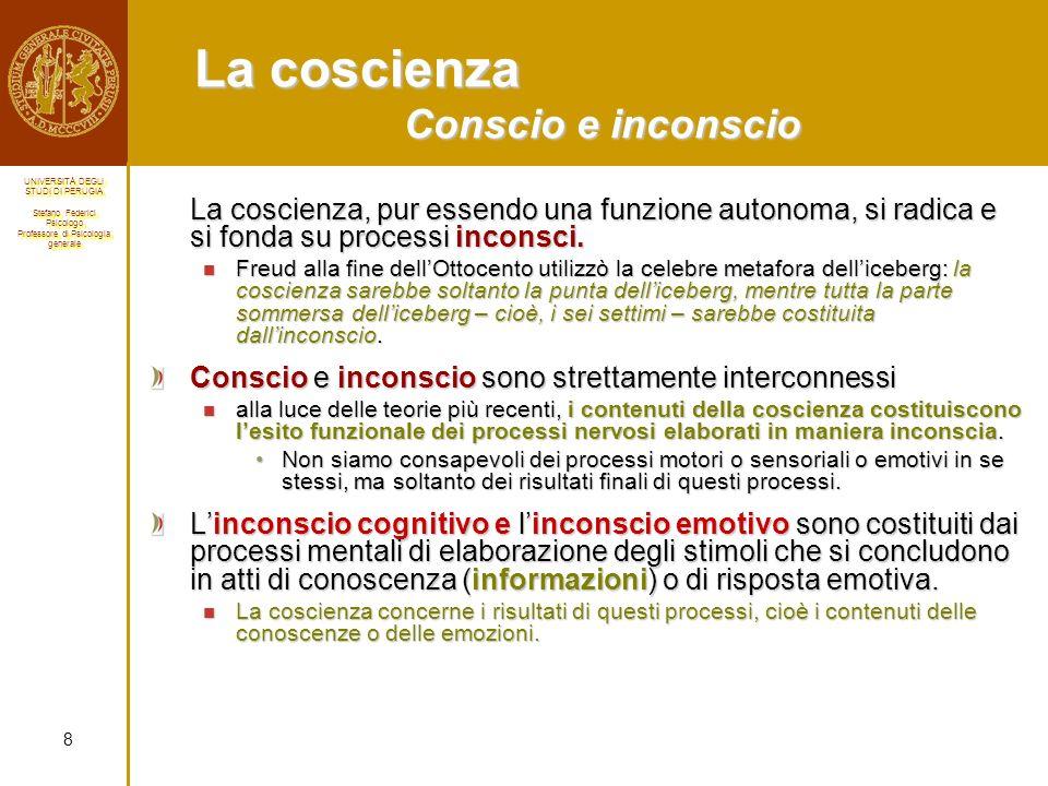 La coscienza Conscio e inconscio