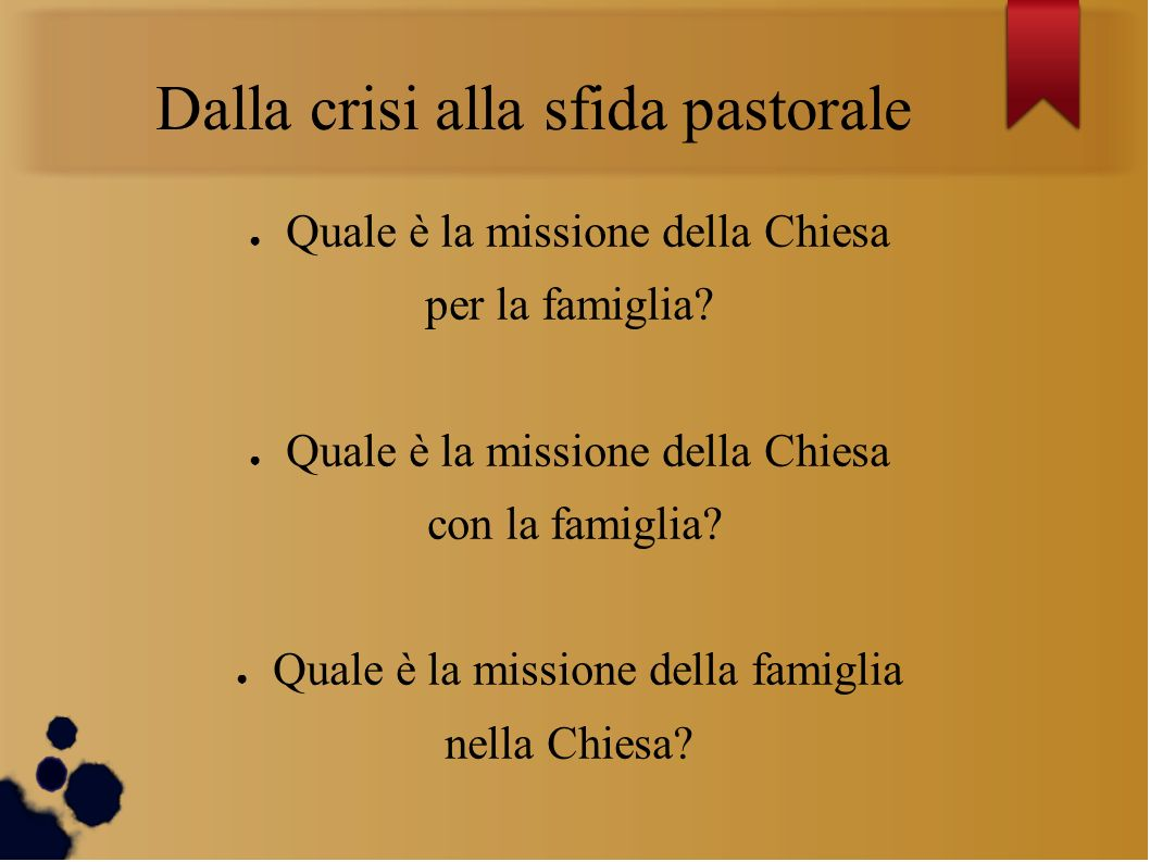 Dalla crisi alla sfida pastorale