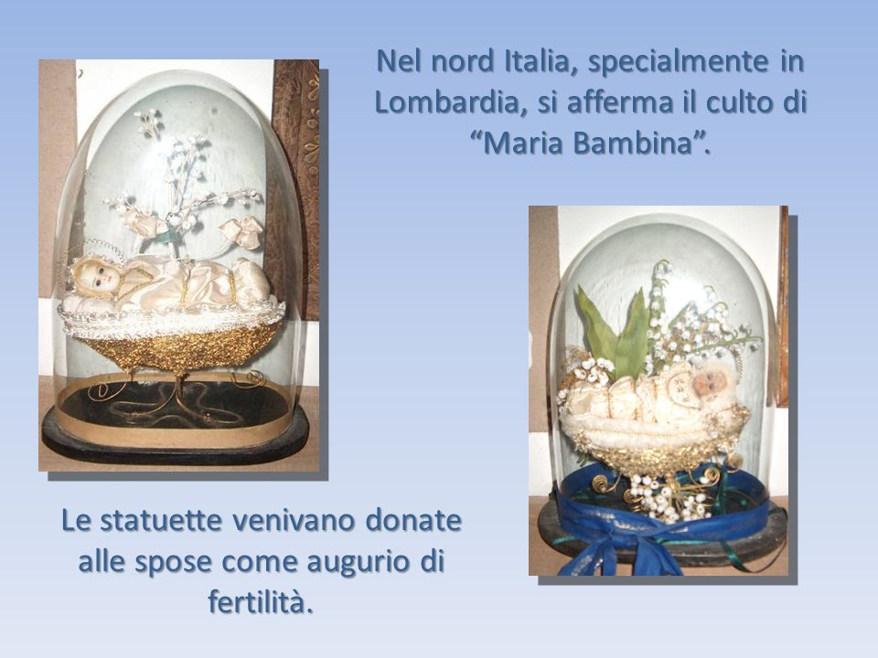 Le statuette venivano donate alle spose come augurio di fertilità.