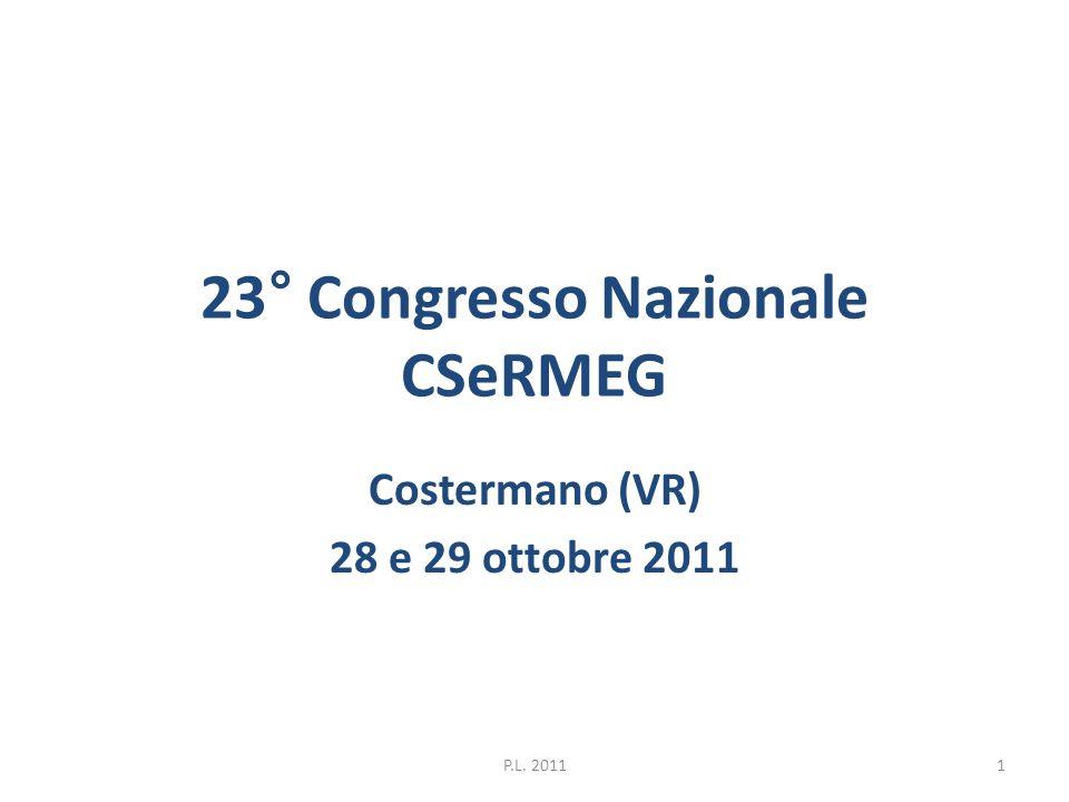 23° Congresso Nazionale CSeRMEG