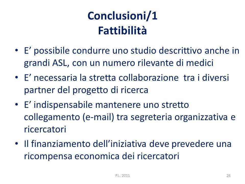 Conclusioni/1 Fattibilità